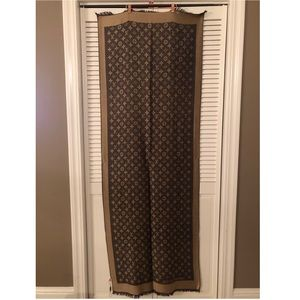 Louis Vuitton Brown and Tan Monogram Wool Stole